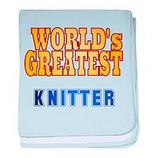 World's Greatest Knitter baby blanket