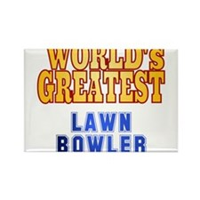 World's Greatest Lawn Bowler Rectangle Magnet