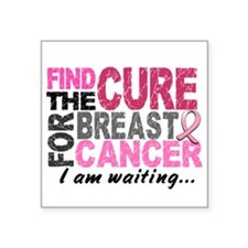 Find The Cure 1.2 Breast Cancer Square Sticker 3""