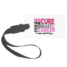 Find The Cure 1.2 Breast Cancer Luggage Tag