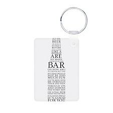 Ode To Beer Poem Keychains