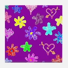 Cute Crayon stars Tile Coaster
