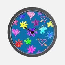 Funny Multi colored butterflies Wall Clock