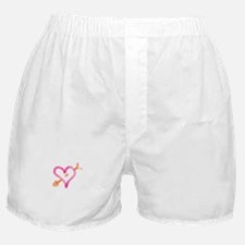Funny Pink heart valentine Boxer Shorts