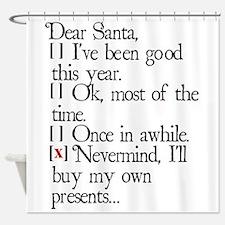Dear Santa Shower Curtain
