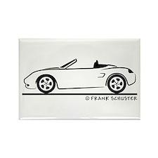 Porsche 986 Boxster Rectangle Magnet