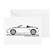 Porsche 986 Boxster Greeting Cards (Pk of 20)