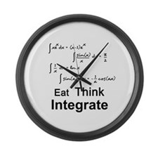 Eat. Think. Integrate. Large Wall Clock