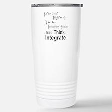 Eat. Think. Integrate. Stainless Steel Travel Mug