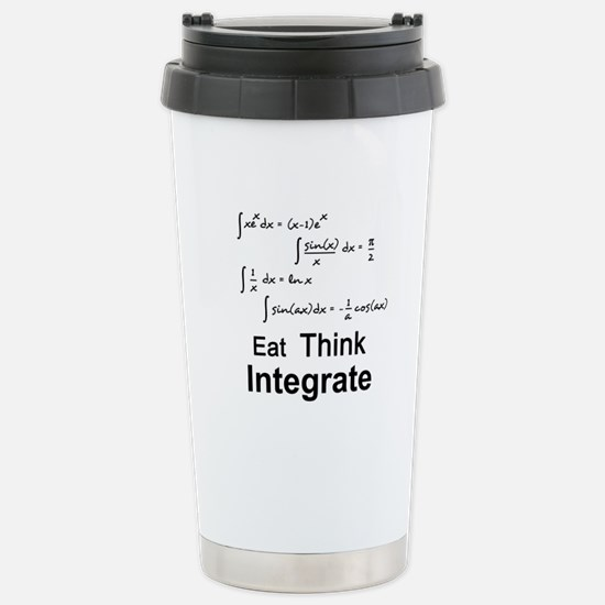 Eat. Think. Integrate. Stainless Steel Travel Mug
