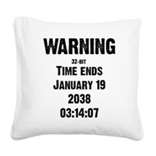 Unix End of Time Square Canvas Pillow