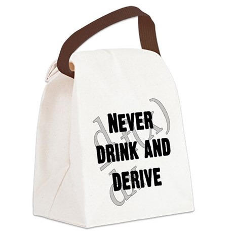 Drink and Derive Canvas Lunch Bag