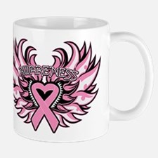 Breast Cancer Heart Wings Mug