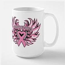 Breast Cancer Heart Wings Mug