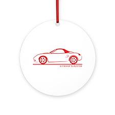 Porsche 986 Boxster Top Ornament (Round)