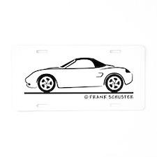 Porsche 986 Boxster Top Aluminum License Plate