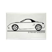 Porsche 986 Boxster Top Rectangle Magnet