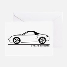 Porsche 986 Boxster Top Greeting Cards (Pk of 20)
