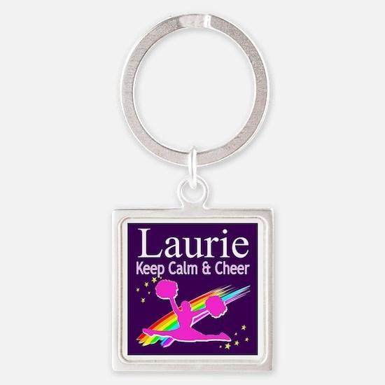 LOVE CHEERING Square Keychain