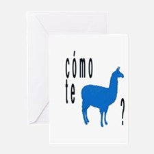 Como te llamas Greeting Card