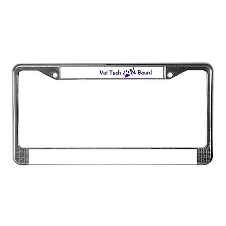 Vet Tech On Board 33 License Plate Frame