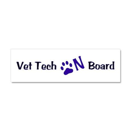 Vet Tech On Board 33 Car Magnet 10 x 3