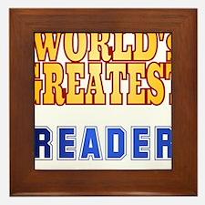 World's Greatest Reader Framed Tile