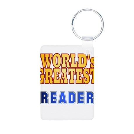 World's Greatest Reader Aluminum Photo Keychain