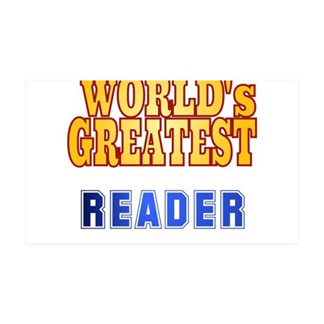 World's Greatest Reader 35x21 Wall Decal