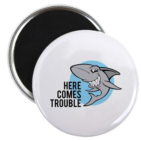 Shark- Here comes trouble Magnet
