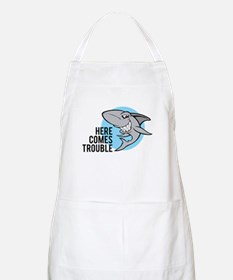 Shark- Here comes trouble Apron