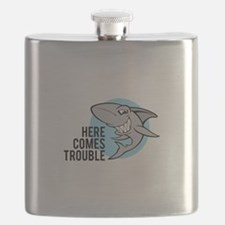 Shark- Here comes trouble Flask