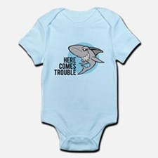 Shark- Here comes trouble Infant Bodysuit