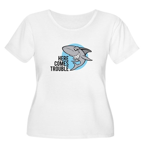 Shark- Here comes trouble Women's Plus Size Scoop