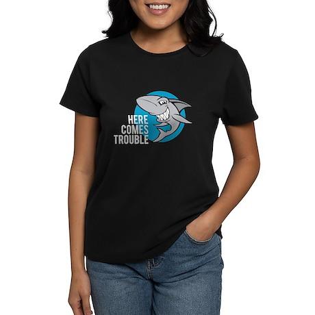 Shark- Here comes trouble Women's Dark T-Shirt