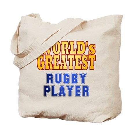 World's Greatest Rugby Player Tote Bag