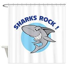 Sharks rock! Shower Curtain