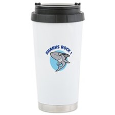 Sharks rock! Travel Mug