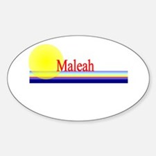 Maleah Oval Decal