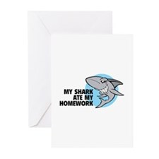 My shark ate my homework Greeting Cards (Pk of 20)