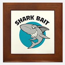 Shark bait Framed Tile