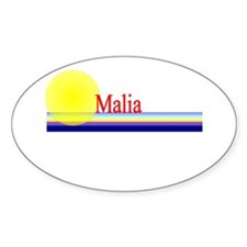 Malia Oval Decal