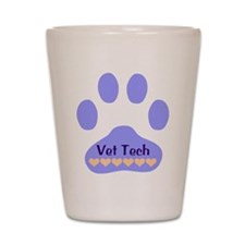 Vet Tech Paw 22 Shot Glass