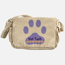 Vet Tech Paw 22 Messenger Bag
