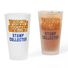 World's Greatest Stamp Collector Drinking Glass