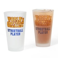 World's Greatest Streetball Player Drinking Glass