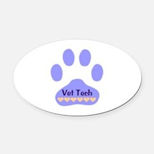 Vet Tech Paw 22 Oval Car Magnet