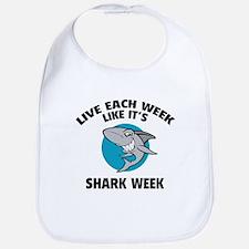 Live each week like it's shark week Bib