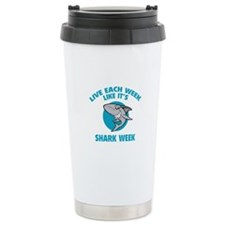 Live each week like it's shark week Travel Mug