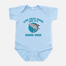 Live each week like it's shark week Infant Bodysui